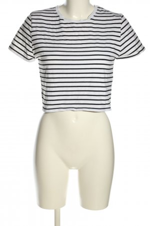 24 colours Stripe Shirt white-black striped pattern casual look