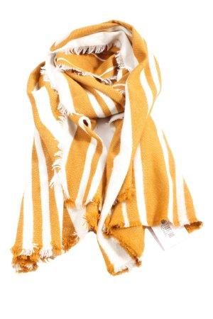 24 colours Écharpe en tricot orange clair-blanc imprimé allover