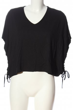 24 colours V-hals shirt zwart casual uitstraling
