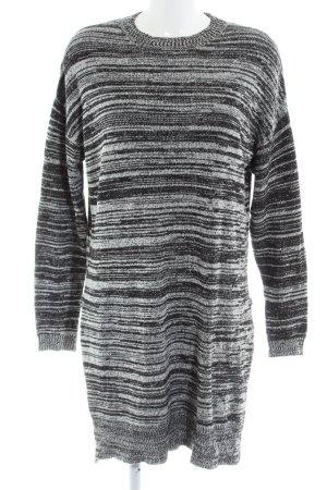 24 Hours Pull tricoté gris clair-noir moucheté style décontracté