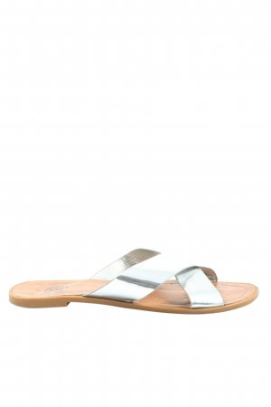 24Colours Comfort Sandals silver-colored casual look