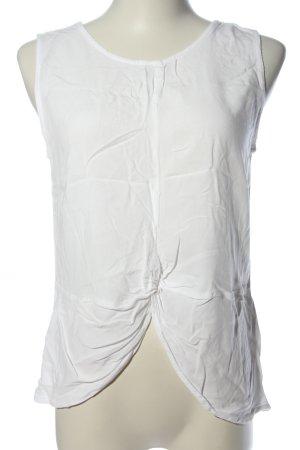 24Colours Blouse sans manche blanc style décontracté