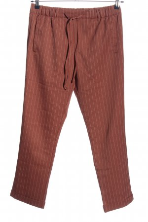 24Colours Baggy Pants braun Streifenmuster Casual-Look
