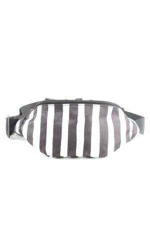 24Colours Bauchtasche schwarz-weiß Streifenmuster Casual-Look
