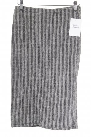 24Colours Pencil Skirt black-white striped pattern casual look