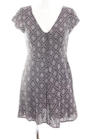 24Colours Blusenkleid schwarz-wollweiß abstraktes Muster Casual-Look
