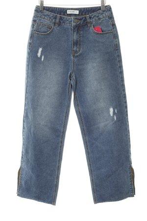 24Colours Jeans boyfriend bleu acier style seconde main
