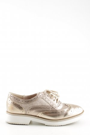 24Colours Wingtip Shoes gold-colored-white casual look