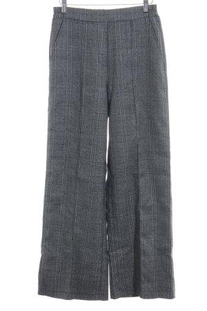24Colours Bundfaltenhose grau-schwarz Glencheckmuster Business-Look