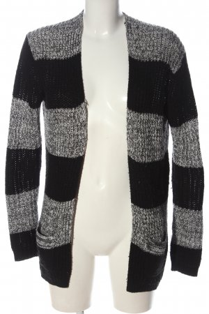 24Colours Cardigan light grey-black allover print casual look