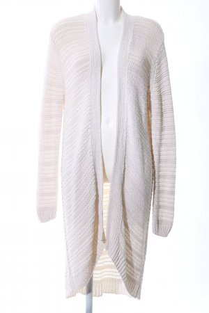 24Colours Cardigan wollweiß Streifenmuster Casual-Look