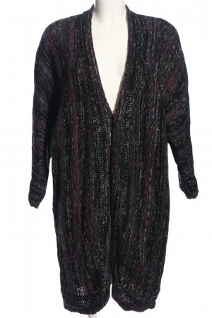 24Colours Cardigan black-red flecked casual look