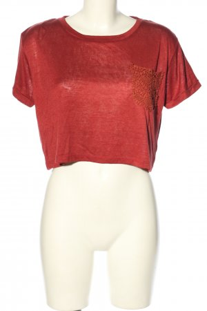 24Colours Cropped Shirt rot Casual-Look
