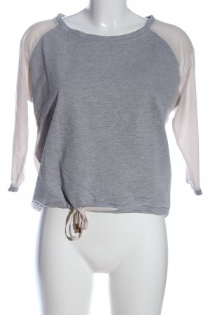 24Colours T-shirt court gris clair-crème moucheté style décontracté