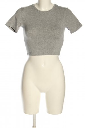 24Colours Cropped Shirt light grey flecked casual look