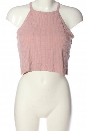 24Colours Top corto rosa stile casual