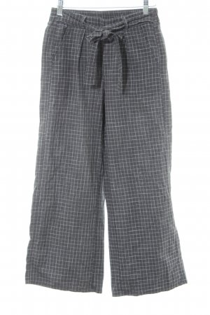 24Colours Culottes graublau-weiß Karomuster Casual-Look