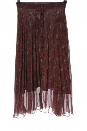 24Colours Flared Skirt red-green allover print casual look