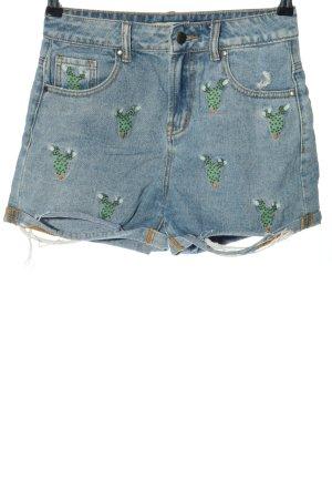 24Colours High-Waist-Shorts blue-green casual look