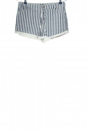 24Colours Hot Pants blue-white striped pattern casual look