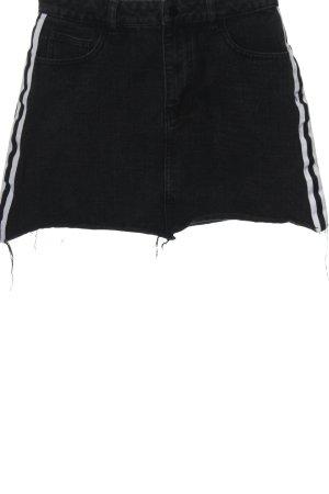 24Colours Denim Skirt black casual look
