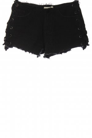 24Colours Denim Shorts black casual look