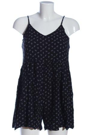 24Colours Jumpsuit black-white flower pattern casual look