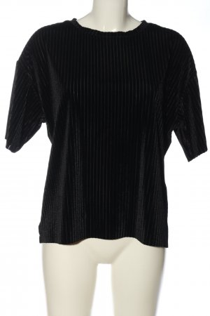 24Colours Blusa de manga corta negro look casual