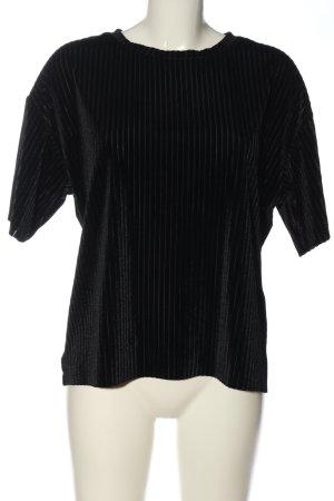 24Colours Blouse met korte mouwen zwart casual uitstraling