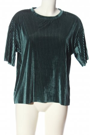 24Colours Short Sleeved Blouse turquoise striped pattern casual look