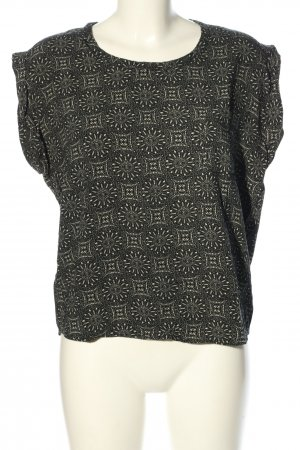 24Colours Short Sleeved Blouse brown-white allover print casual look