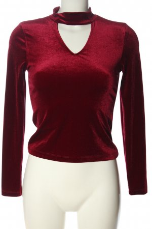 24Colours Long Sleeve Blouse red casual look