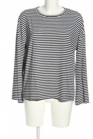 24Colours Longsleeve black-white striped pattern casual look