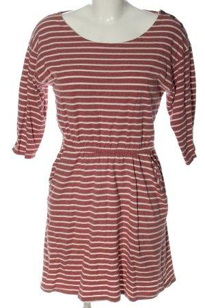 24Colours Mini-jurk rood-lichtgrijs gestreept patroon casual uitstraling
