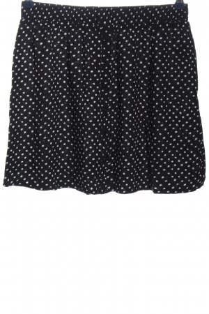 24Colours Mini rok zwart-wit gestippeld patroon casual uitstraling