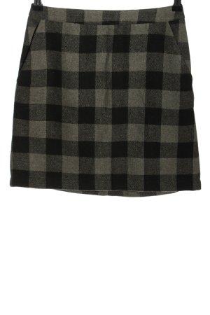 24Colours Mini-jupe noir-gris clair motif à carreaux style décontracté