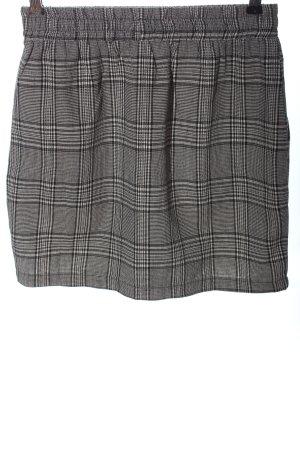 24Colours Miniskirt black-light grey check pattern business style