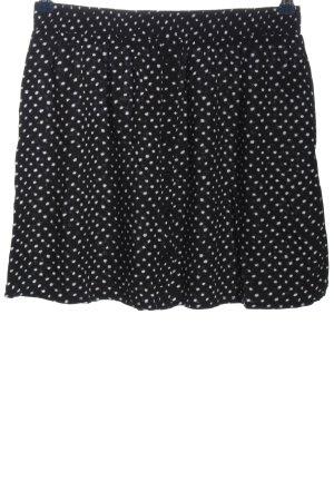 24Colours Mini-jupe noir-blanc motif de tache style décontracté