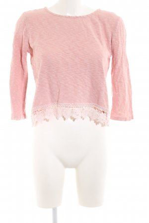 24Colours Oversized Pullover pink meliert Casual-Look