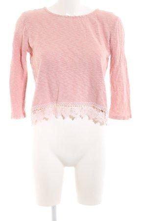 24Colours Oversized Pullover pink meliert Elegant