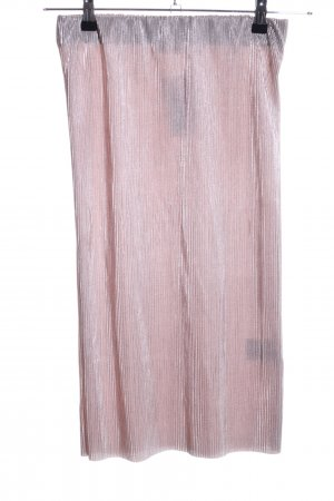 24Colours Pleated Skirt pink flecked wet-look