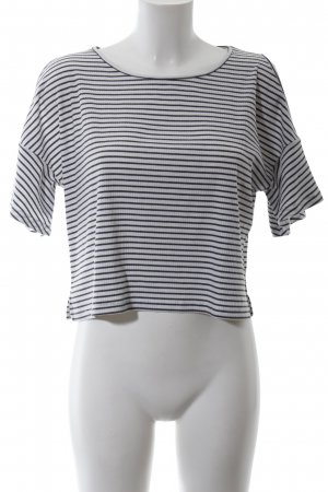 24Colours Stripe Shirt white-black striped pattern casual look