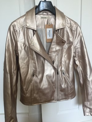 24Colours Faux Leather Jacket rose-gold-coloured-gold-colored