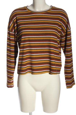 24Colours Kraagloze sweater volledige print casual uitstraling