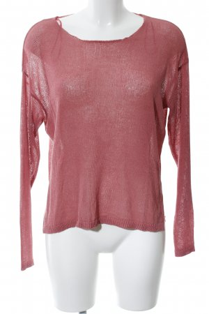24Colours Jersey de cuello redondo rosa look casual
