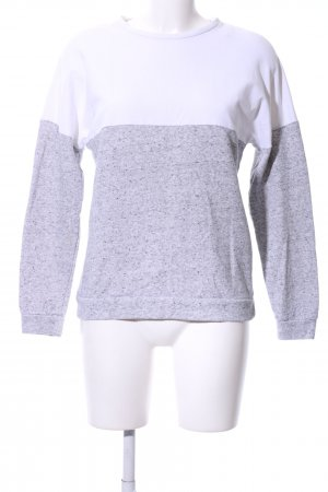 24Colours Jersey de cuello redondo blanco-gris claro moteado look casual