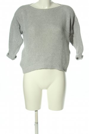 24Colours Jersey de cuello redondo gris claro look casual