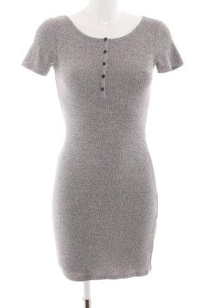 24Colours Robe tube gris clair moucheté style décontracté