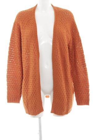 24Colours Cardigan tricotés orange clair torsades style simple