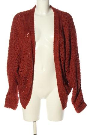 24Colours Veste en tricot rouge style décontracté